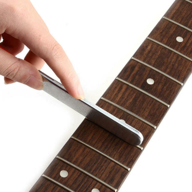 Guitar Fret Crowning Luthier File Stainless Steel Narrow Dual Cutting Edge qwe