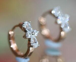 Rose-Gold-GF-Created-Diamond-Clover-1-2cm-Hoops