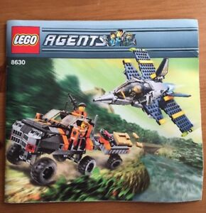Gold Hunt INSTRUCTION BOOK ONLY Lego Agents 8630 Mission 3 No Lego bricks