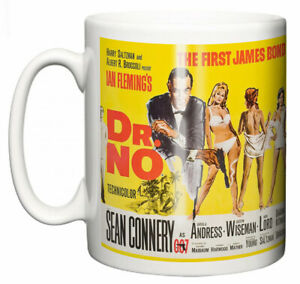Dirty Fingers Mug, Sean Connery James Bond Dr No, Film Design Poster