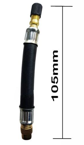 Extensión de válvula de neumático de goma flexible 105mm Twin Rueda Camión Van Bus Adapter X 4