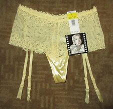 MARILYN MONROE Warners (Older Collection) ~ Yellow Lace Garter Panty ~NWT! Large