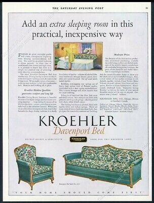 Fine 1927 Kroehler Davenport Sofa Bed Color Art Vintage Print Ad Ebay Creativecarmelina Interior Chair Design Creativecarmelinacom