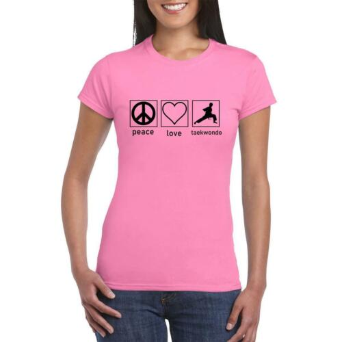 Peace Love taekwondo Women printed T-Shirt