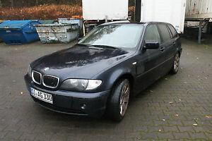 BMW E46 330xd DIESEL KOMBI LEDER AUTOTELEFON AUTOMATIK ALLRAD UNFALLWAGEN