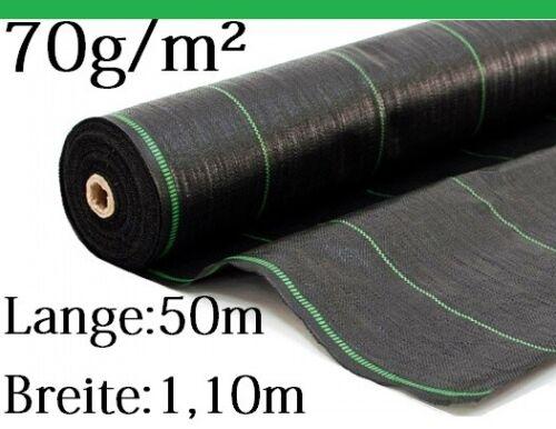 50m 70g//m² Bodengewebe Paddockplatten Rasengitter Gartenflies Unkrautvlies UV