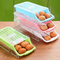 Plastic Drawer-style Eggs Holder Container Refrigerator Egg Storage Box Case Us