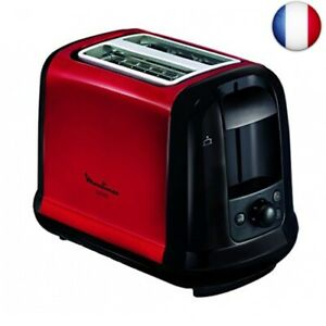 MOULINEX Subito Grille pain 2 fentes rouge toaster Thermostat 7 position