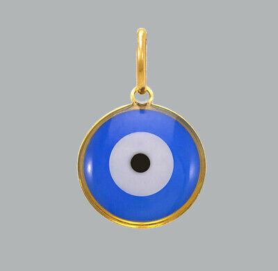 Gold Evil Eye Necklace Evil Eye Charm 20.7x15x2.3mm Evil Eye Pendant 1pcs White Enamel Round Eye Necklace