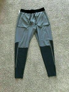 Nike Tech Pack Hombre Para Correr Pantalones M Gris Negro Swift Phenom Flex Pantalones Ebay
