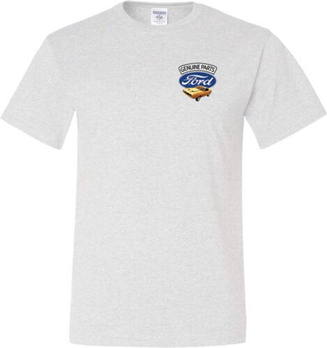 Ford Mustang T-shirt Genuine Parts Pocket Print Tall Tee
