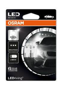 Osram-LED-6000K-blanco-frio-W5W-501-12V-1W-LED-Bombillas-Cuna-larga-vida-2850CW-02B