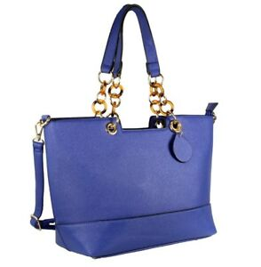 87b7be61f1c9 Image is loading Alyssa-Elegant-Designer-Inspired-Faux-Leather-Tote-Shoulder -