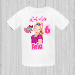Image Is Loading JoJo Siwa T Shirt Bows Personalized Birthday