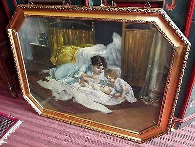 Goldrahmen 20er Jahre Bild,kitschbild Ausgefallenes Mass SchnäPpchenverkauf Zum Jahresende
