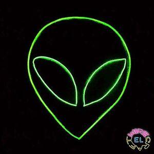 Glow EL Wire Alien Halloween Costume (mask not included ...