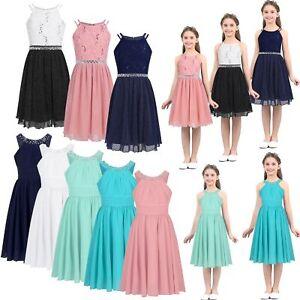 Flower-Girls-Dress-Princess-Party-Bridesmaid-Wedding-Kids-Formal-Gown-Long-Dress