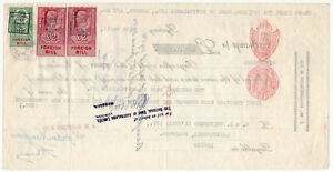 I-B-George-VI-Revenue-Foreign-Bill-4-5-Australia-NSW-10-9-6d-Duty
