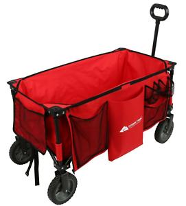 Outdoor-Folding-Wagon-Cart-Collapsible-Garden-Beach-Utility-Buggy-Camping-Sports