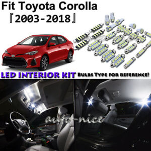 Image Is Loading 8x White Led Interior Lights Package Kit For