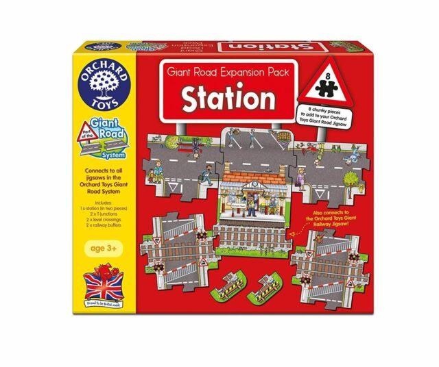 Orchard Toys GIANT RAILWAY STATION EXPANSION PACK Educational Game Puzzle BN