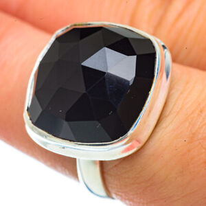 Black-Onyx-925-Sterling-Silver-Ring-Size-7-5-Ana-Co-Jewelry-R42582F