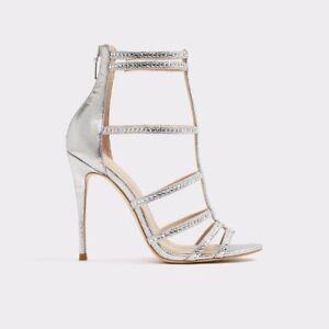 Aldo Silver Embellished High Heel