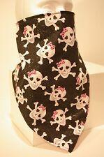 Skull w/bows Recreational Fleece Lined Bandana motorcycle face mask protector