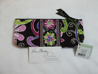 Vera Bradley Purple Punch Brush & Pencil Cosmetic Case Bag For Purse Tote