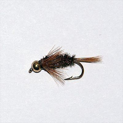 Black Nymph Diawl Bach 18 Gold Head Nymphs Trout Fly fishing Flies GRHE