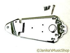 Chrome GUITAR SEMI-ACOUSTIC TAILPIECE JAZZ Tail Piece 6 stringa di ancoraggio a Cerniera Nuovo