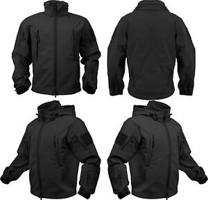 Black Waterproof Soft Shell Special Operations Triple Layered