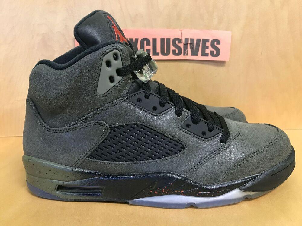 Nike Air Jordan V Retro 5 Fear Sequoia Fire rouge noir 626971 350