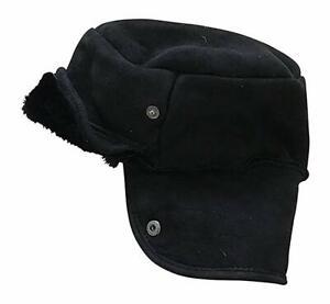 Paul Smith - Black Sheepskin Hunter Trapper  Hat  Size M