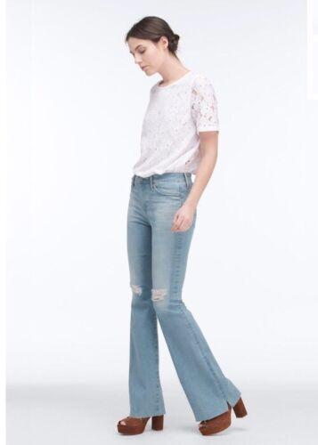 Janis Jeans haute 30 Adriano Taille évasée Lazy Blue Nouveau 235 Goldschmied jambe taille à évasée SFvtAanwq