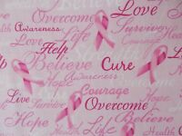 Breast Cancer Words Of Encouragement Quilt Fabric Timeless Treasures Fq / Bty