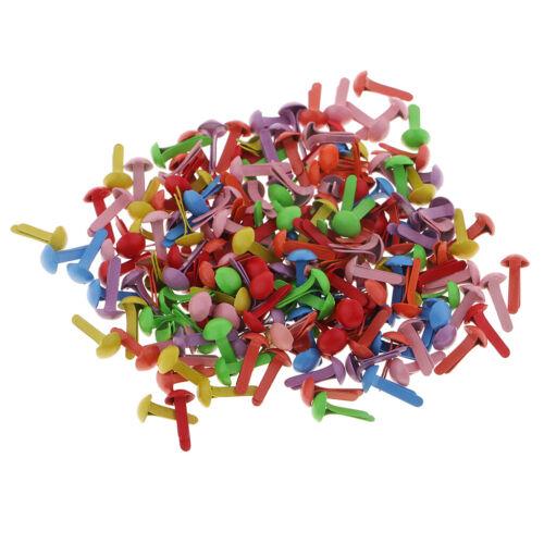 800 stücke Mini Metall Brads Papier Verschluss für Kinder Cardmaking