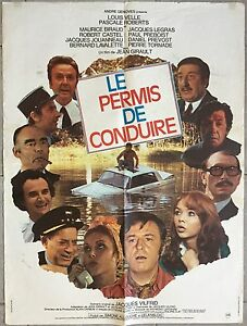Affiche-LE-PERMIS-DE-CONDUIRE-Jean-Girault-LOUIS-VELLE-Pascale-Roberts-60x80cm