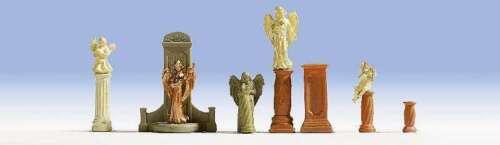 Gravestones /& Statues 7 Noch Gmbh /& Co Model Train 4007246148721 HO-Scale