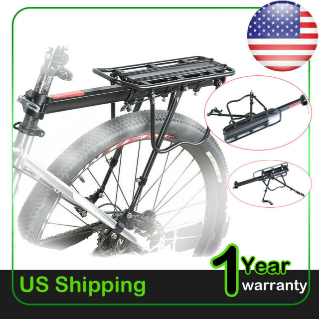 Aluminum Alloy Bicycle Bike Rear Post Mount Pannier Seat Rack Luggage Cycling US