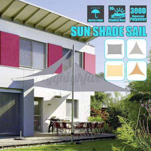 Waterproof Sun Shade Sail Patio Pool Top Cover Canopy 330D UV Outdoor Awnings