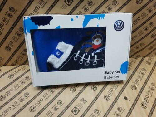 Genuine Volkswagen Baby Gift Set VW WRC Branding 5DA084415 Bibb and Socks