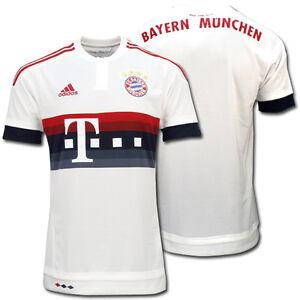 ADIDAS FCB AT JSY T-SHIRT ORIGINAL FC BAYERN MÜNCHEN MUNICH HEMD ... ed8fdae51c32b