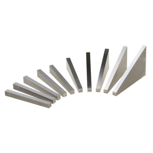 10er Set Präzisions Winkel-Blöcke Set 1 bis 30 Grad für Schleif und