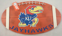 Ku Kansas Jayhawks Football Collegiate Licensed Wooden Bar Man Cave Team Sign