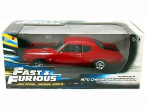Ertl-1-18-Fast-amp-Furious-4-1970-Chevy-Chevelle-Ss-Rojo