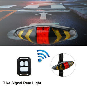 Bicycle Bike Rear LED Tail Light Wireless Remote Control Turn Signal AAA Lamp US