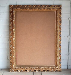 Extra Large Vintage Shabby Chic Ornate Gold Picture Frame