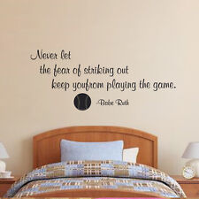 Babe Ruth Quote Wall Art Vinyl Decal sticker Success Every strike yankees 36x10