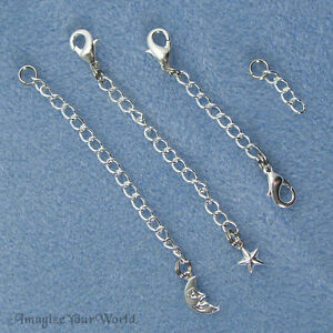 SILVER-PLATED-Tone-Safety-or-EXTENDER-CHAIN-Custom-Handmade-Ur-Style-Length-B3L